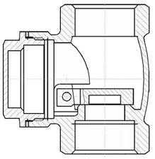 Rückschlagklappe: Vertikale Position