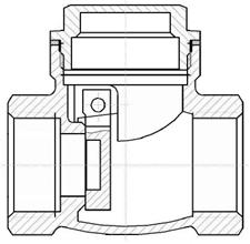Rückschlagklappe: Horizontale Position