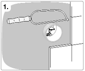 Rohrunterbrecher Einbau Schritt 1